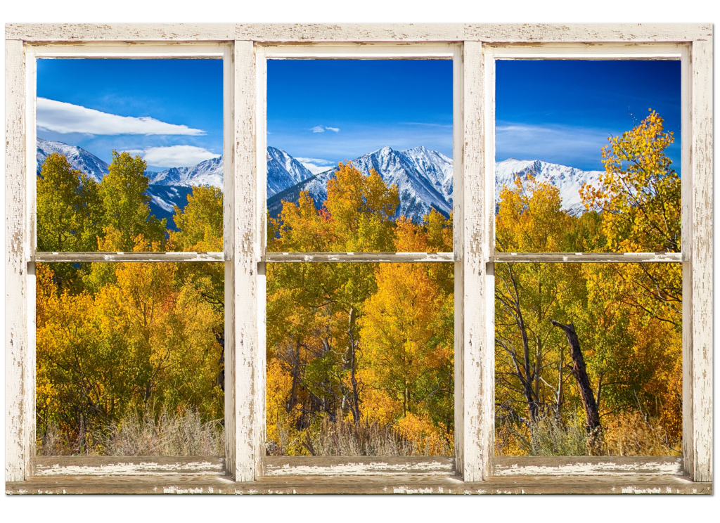 window frame art, whitewash windows,